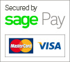 Secured by Sage Pay, Mastercard & VISA