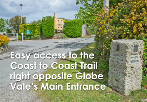 Globe Vale Entrance next to Coast to Coast path