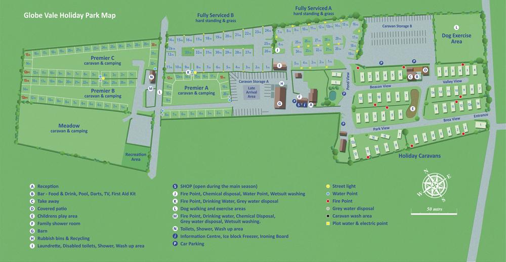 Globe Vale holiday Park Plan