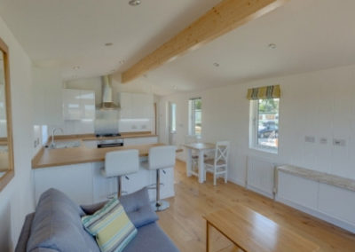 Luxury lodges for sale in Cornwall Living room