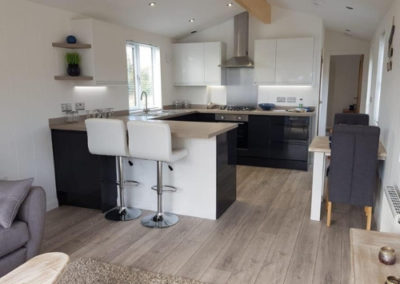 Luxury lodges for sale in Cornwall kitchen_living_dining room