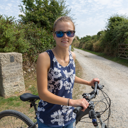 Cornish Coast to Coast Cycle Trail can be accessed from Globe Vale Holiday Park
